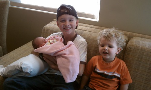 Ella with big brothers