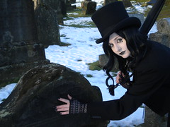 """""""Rattle his bones over the stones, he's only a pauper, who nobody owns."""" (miss.godzilla) Tags: snow cemetery graveyard death cosplay stirling rude neil holy valley sandman gaiman endless"""