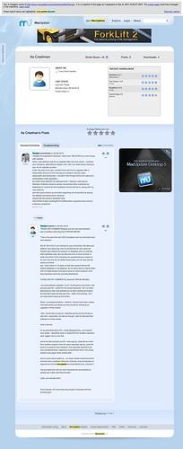 MacUpdate: Member Profile - Ae Creelman_b4r censorship