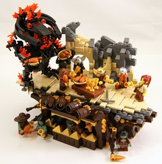 Servant (Bart De Dobbelaer) Tags: castle lego dwarf fantasy vignette balrog minion witchsquest