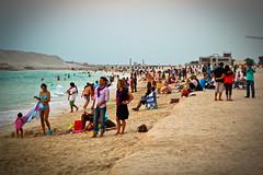 Emirati beach (modenadude) Tags: ocean family sunset sea beach water swim persian sand dubai gulf dusk united uae suit emirates bikini arab burjalarab arabian emirati