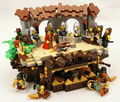 Gate (Bart De Dobbelaer) Tags: castle lego guard fantasy vignette peasant minion witchsquest