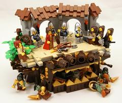 Gate (Bart De Dobbelaer) Tags: castle lego guard fantasy vignette peasant minion witchsquest