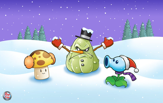 Plants vs. Zombies Wallpaper de Invierno 4