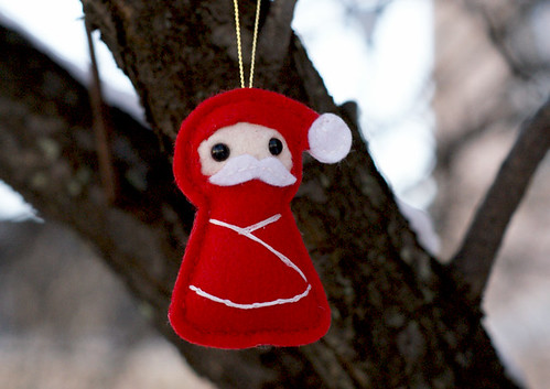 Ninja Santa - In a tree