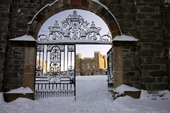 gate to the fort Hillsborough (wilwal22) Tags: winter snow forest northernireland hillsborough countydown hillsboroughforest hillsboroughlake