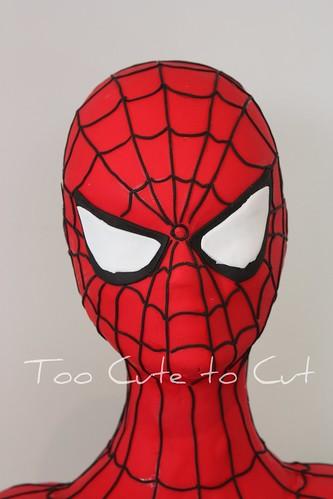 spiderman 3d. 3D spiderman Head Close up