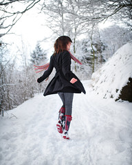 Snow Queen (Szmytke) Tags: winter portrait fashion topv111 scarf scotland topv555 topv333 pattern topv1111 topv999 topv444 sigma topv222 jacket iona topv777 wellies topv666 teenage topv888 30f14
