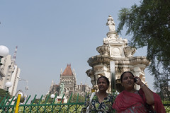 Premila & Prema near Flora Fountain (xnmeme) Tags: india prema premila