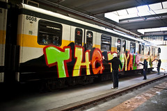 The union make the force (subliner) Tags: light milan colors yellow underground subway graffiti team mask metro milano letters hangar gang colores spray line explore crew writers subterraneo end typo frontpage tipografia vandals letras royals vandalos mascaras escritores subterraneus