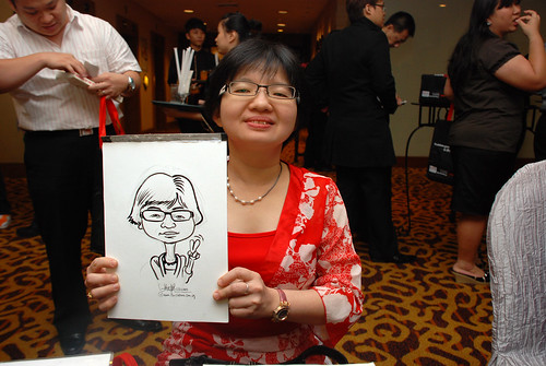 Caricature live sketching for Swiss Precision Dinner & Dance 2010 - 3