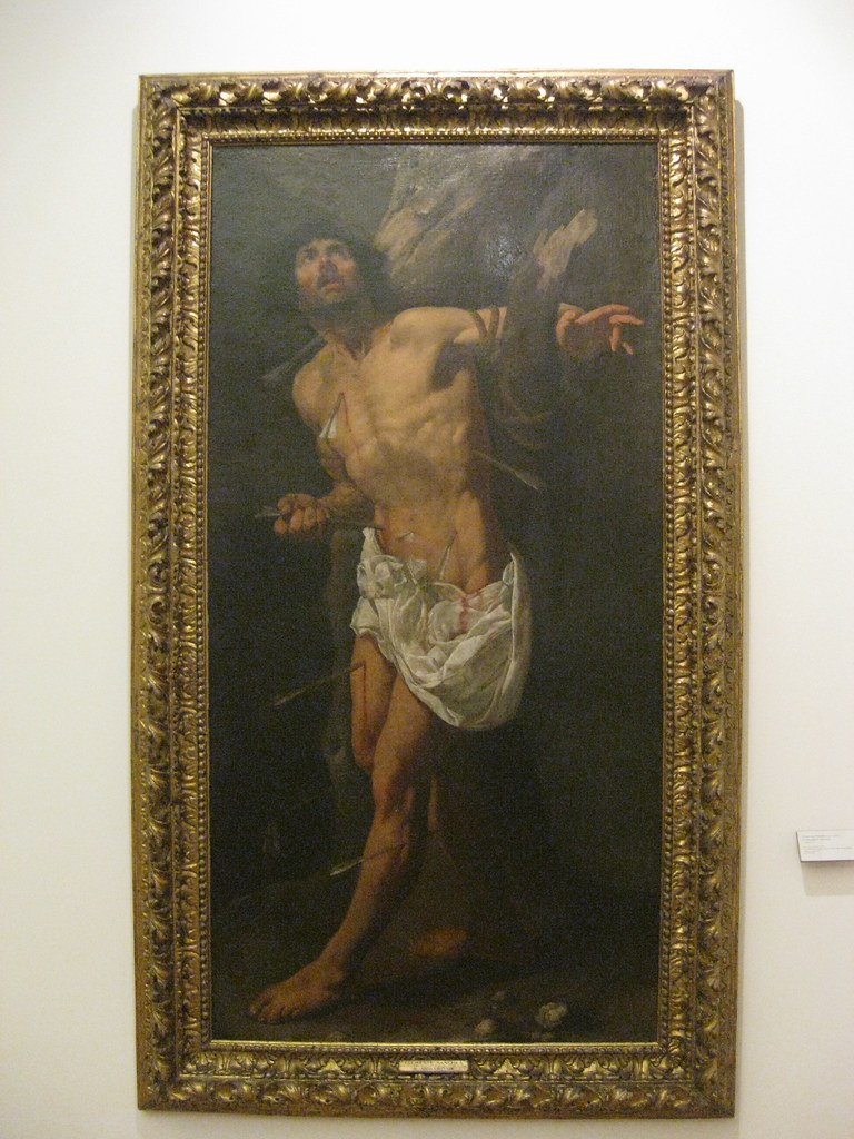 Clemente Sanchez (Portuguese, Seventeenth Century) Sao Sebastião or Saint Sebastian (c. 1620) Oil on canvas. Museum of Ancient Art, Lisbon.