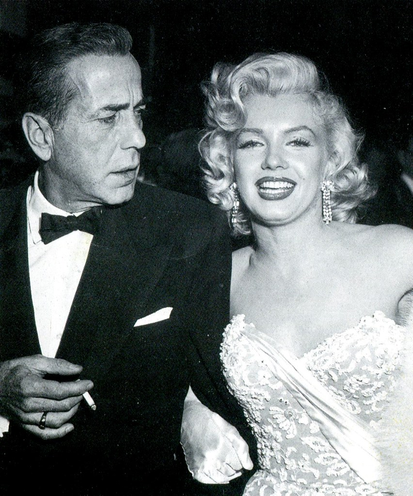 Humphrey Bogart and Marilyn Monroe