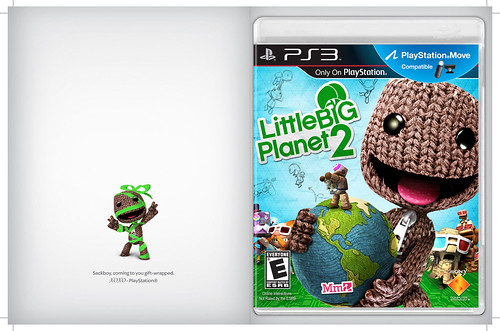 LittleBigPlanet 2: Holiday card (front and back)