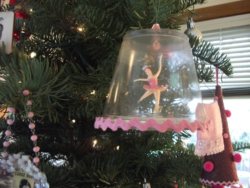 pink ballerina winter wonderland ornament