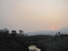 Sunset (Zhongdu Wetland Park; Under Construction)