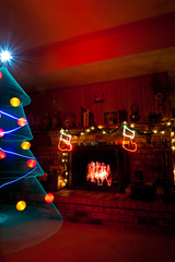 A Magical Christmas! (TxPilot) Tags: christmas longexposure light lightpainting tree art stockings night painting fire photography lights graffiti star nikon fireplace long exposure paint bright orb christmastree led lap lighttrails movinglights lightgraffiti starburst balloflight elwire lightpaint lightemittingdiode electroluminescentwire d700 lightgraf lightartphotography