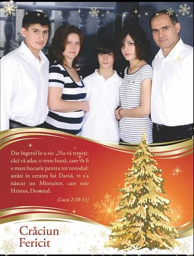Felicitarea Familiei Filat de Crăciun