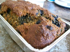 Blueberry - Tangerine Banana Bread (jazzijava) Tags: christmas xmas food home cooking tangerine fruit bread recipe ginger baking healthy december photos blogger banana gifts blogged blueberries baked fatfree wholewheat nooil xmasgifts nobutter lotsofbananas whatsmellssogood