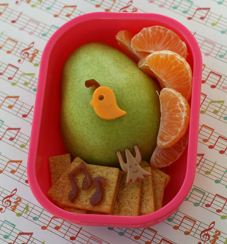 1st day of Christmas - Partridge in a Pear Tree bento
