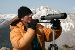 Peter Sherrington at Piistaistakis Observation Site - (c) David Thomas