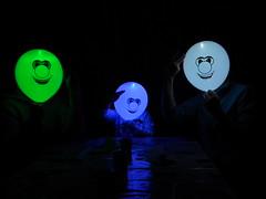 Balloon Happy Faces (doyoubleedlikeme) Tags: dark balloons lightup alternativeportraits