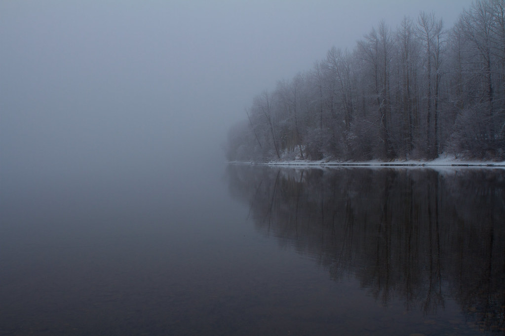 Foggy lake - Reflection