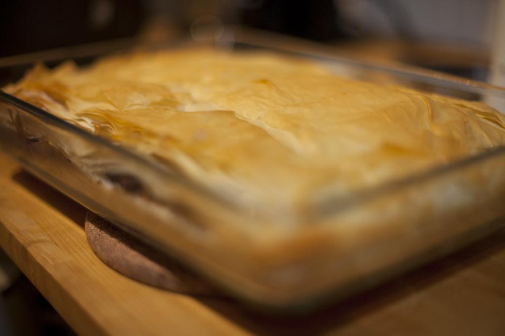 Kasha Phyllo Pie