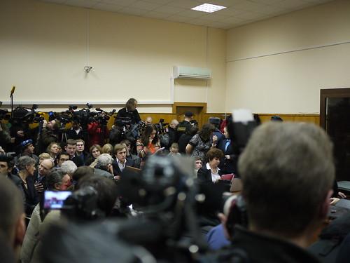 Politie, pers en advocaten
