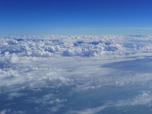 深圳軟件教學行@班機外的雲層