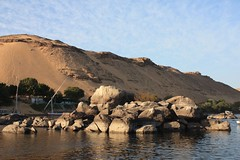 1-st Cataract, Nile River, Egypt (LeszekZadlo) Tags: travel naturaleza nature water river landscape rocks desert natureza egypt paisaje nile egipto geology nil gypten egitto egypte cataract  egipt landshaft protectedarea  pejza pajsage paisaye