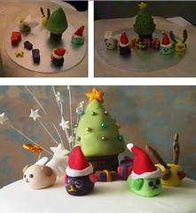 - Mameshiba Christmas Cake WIP (crayonmonkey) Tags: christmas xmas cake decoration sugar cm   christmascake sugarcraft sugarpaste mameshiba