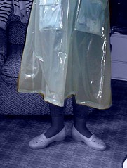 Mary Poppins in plastic raincoat (april-mo) Tags: vinyl negative raincoat experimentalphotography plasticraincoat vinylraincoat negativeworld digitalnegativephoto marypoppinsshoes