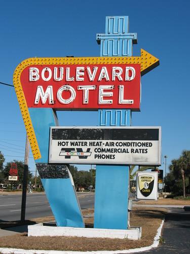 Boulevard Motel Neon Sign Deland FL
