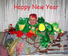 Happy New Year (FrogLuv) Tags: frog rana frosch froggy grenouille happynewyear kikker froggie kurbaga