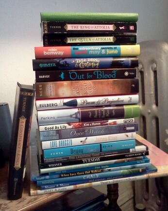 Holiday #bookaday Pile (+ Current Read)