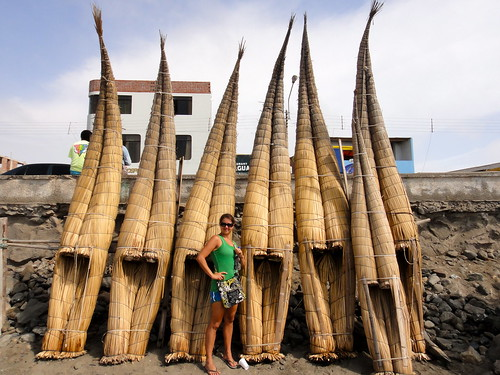 Totora Reed Boats in Huanchaco