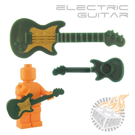 Electric Guitar - Dark Green (gold pickguard print)