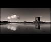 Stalker (Chee Seong) Tags: uk winter cloud mountain snow bird castle water sepia contrast canon coast scotland highland stalker loch tone refelction cpl hoya appin 400d canon1020mm niksilvereffexpro