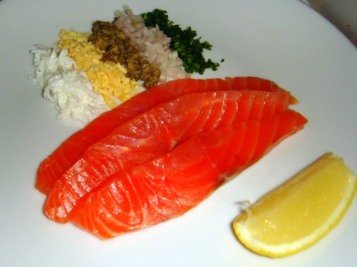 London Cure Smoked Salmon with Delmonico's Garnish