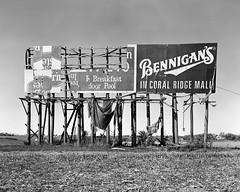 Mile 255 (Jesse James Sinclair) Tags: road blackandwhite film sign highway midwest country iowa billboard advertisement freeway 4x5 interstate i80 viewcamera interstate80