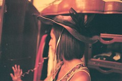day five (Taylor+Stevens) Tags: brown film girl hat closet hair focus grain short ribion storew