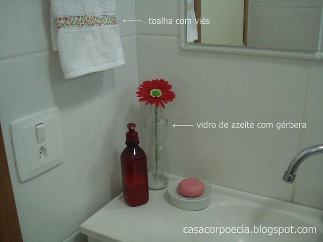 Banheiro dicas de organização, limpeza e decoração barata!  Casa Corpo e Cia -> Decoracao Banheiro Barata