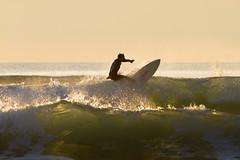 Golden Hour (Chreriksen) Tags: ocean winter espaa beach spain surf waves playa invierno cdiz olas cortadura