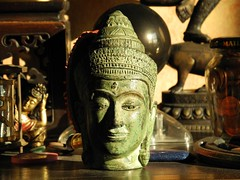 green buddha (omoo) Tags: newyorkcity interiors apartment buddha westvillage altar meditation greenwichvillage privatealtars