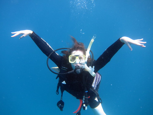 Ania pod wodą