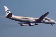 Aer Turas DC8-63 EI-BNA at Vienna on 1987/10/05 (Manfred Saitz) Tags: vienna dc8 aerturas eibna