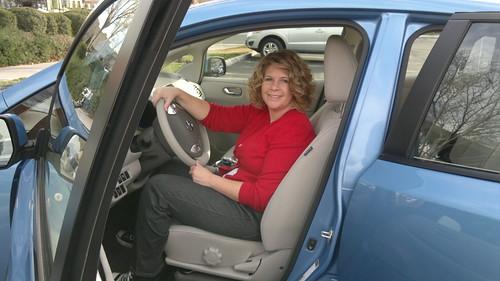 CES Nissan LEAF test drive