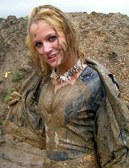 (davezrx) Tags: woman girl leather mud messy muddy