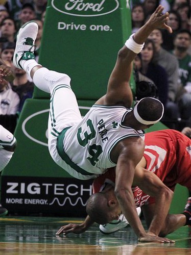 APTOPIX Rockets Celtics Basketball
